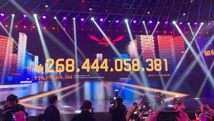 """2019年天猫""""双11""""成交额达2684亿元,再创新纪录"""