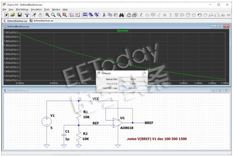LTspice教程进行噪声分析(仿真示例)