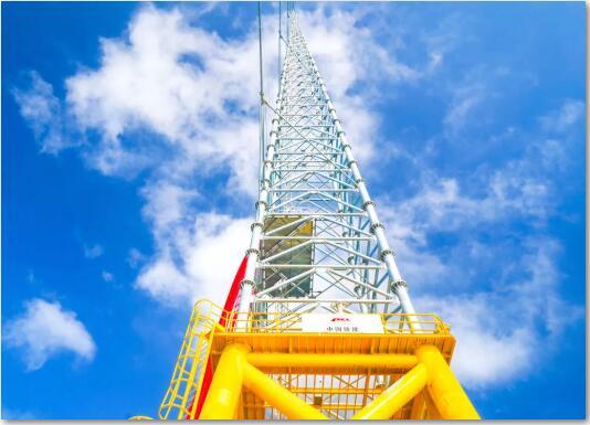 国内近海风电第一塔——华电阳江青洲三海上风电测风塔项目顺利竣工