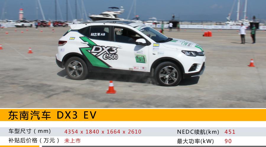 2019中国新能源汽车大赛开启,东南汽车DX3 EV获得年度制动最佳车型