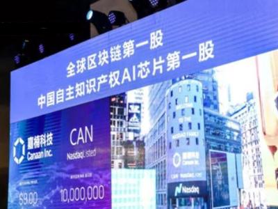 """嘉楠成为国内在美上市的""""AI芯片第一股"""",并摘得""""全球区块链第一股""""名号"""