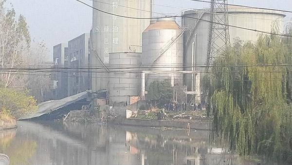 浙江海宁许村突发事故污水罐体坍塌事故造成24人死亡