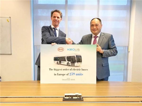 比亚迪中标荷兰259台纯电动大巴订单,与凯奥雷斯签署合作协议