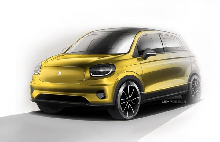 ?零跑官方發布T03車型設計手稿:定位微型電動車,明年4月上市