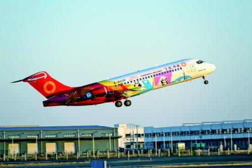 国产喷气支线客机ARJ21,已累计交付客户22架