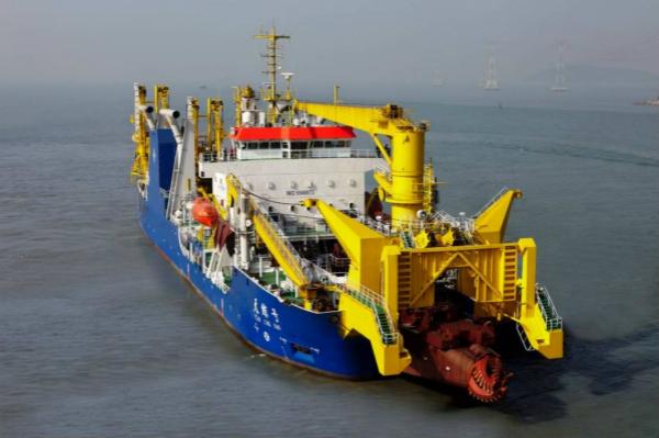 """地图编辑器,""""新海旭""""世界上最大的非自航绞吸挖泥船"""