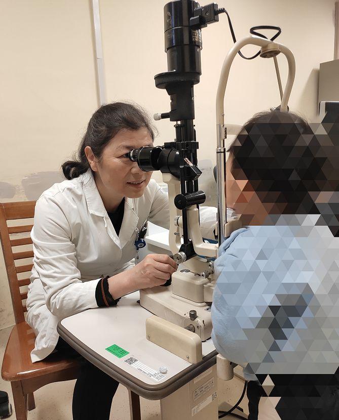 激光笔照射损伤,7岁孩子左眼还存有0.5的视力