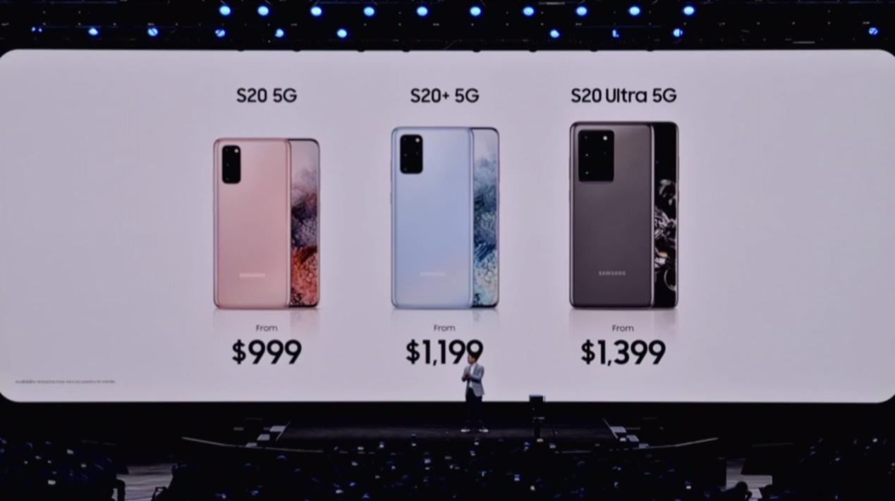 三星S20正式发布:1亿像素百倍变焦,售价999美元起