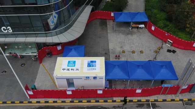 移动式5G红外测温快速筛查系统在深圳科技园安装使用