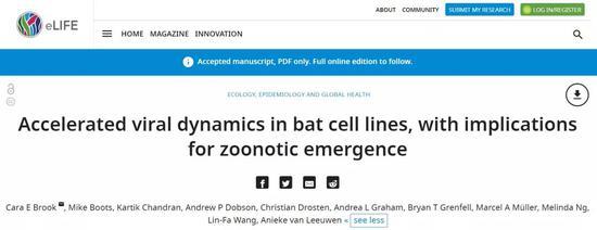 蝙蝠携带的病毒的传播为何会对人类具有致命性?