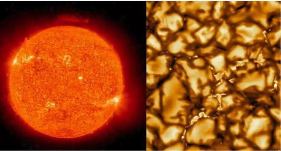 美国太阳望远镜拍摄最清晰的太阳表面照片