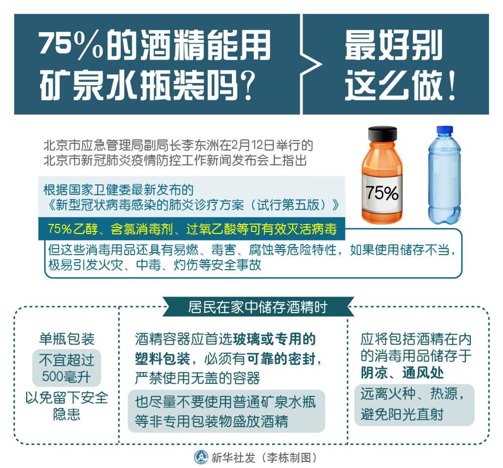 75%酒精能用矿泉水瓶装吗?小心留下安全隐患