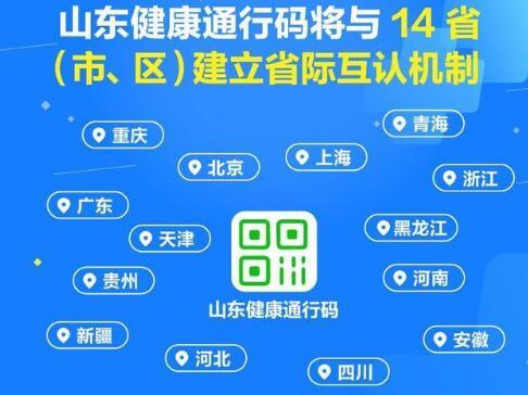 14省健康码互认,附电子健康通行卡申请操作流程
