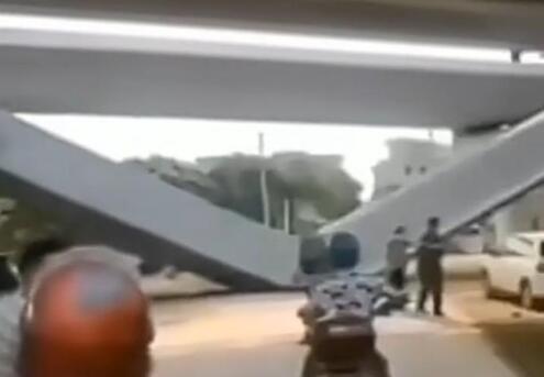 广州增城一高架桥倒塌事故,花莞15标增江特大桥梁体坠落折断