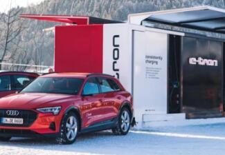 奥迪研发出一体化电动汽车充电系统,可15分钟快充