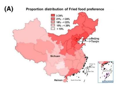 中国首张饮食习惯与代谢病地图发布,重口味成为很多人饮食常态