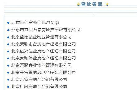 """北京21家房产中介被查处【名单】,严查炒作""""学区房""""等行为!"""