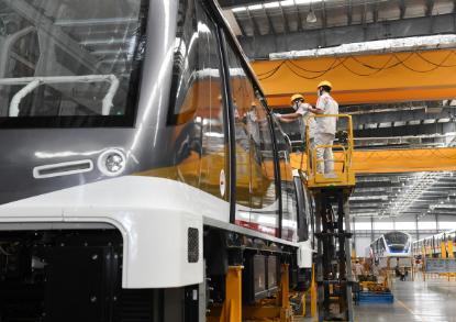 全自动旅客运输系统APM车辆——安徽省出口海外的首款轨道交通产品