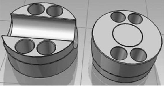 汽车固定盘,四轴加工结构及工作过程