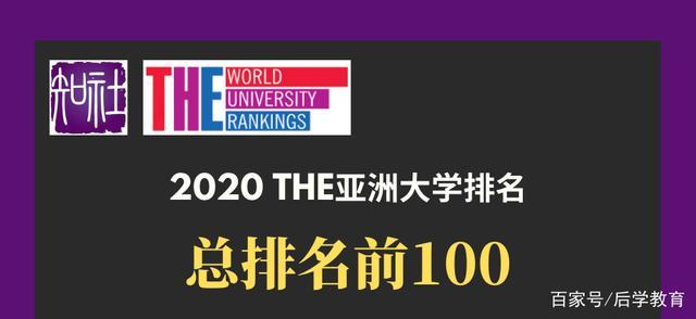 2020年亚洲大学排名完整榜单:清华大学连续两年保持亚洲第一
