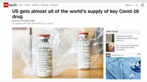 美国买断新冠关键药物瑞德西韦,让其他国无药可买