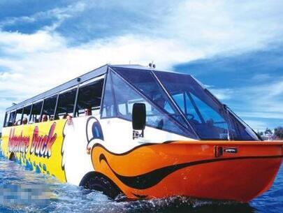 日本今年將試用全球首輛自動兩棲觀光巴士,實現商品順暢運輸