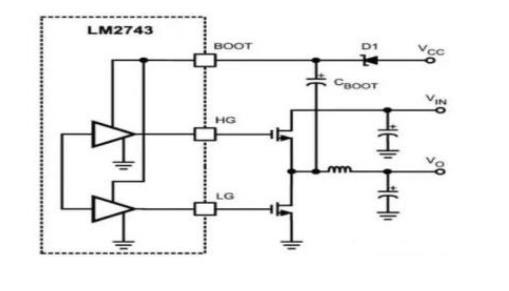 MOS管自舉電路工作原理及升壓自舉電路結構圖