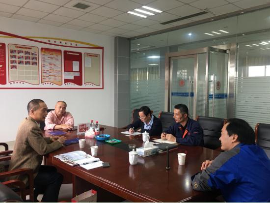 海盐县科技局张利峰副局长带队访问七丰精工科技股份有限公司