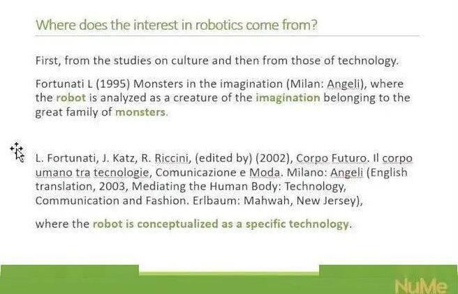 Leopoldina Fortunati教授在研讨会上分析对社会机器人的研究路径