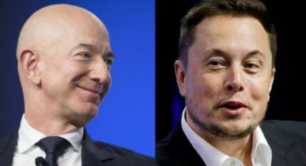 """两任全球首富的""""太空""""对决:交手十年,马斯克炒作能力远胜贝佐斯"""