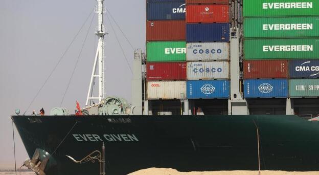 """""""金钱制造机""""苏伊士运河停运一周谁最受伤?百艘巨轮还没找到赔偿方"""