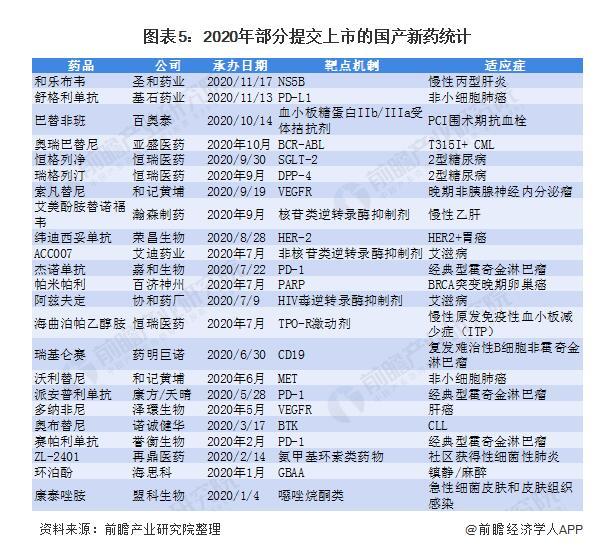 202我中国药品注册及新药上市情况:慢性病和抗肿瘤药物居多