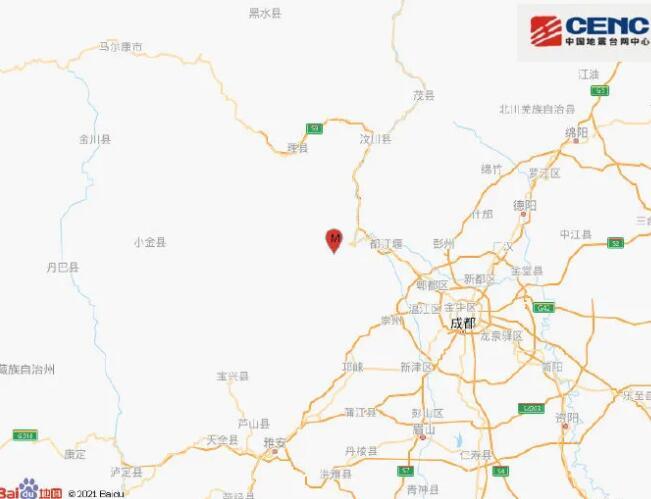 汶川昨晚發生4.8級地震,專家稱系512汶川地震余震