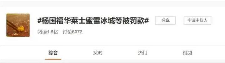 杨国福华莱士蜜雪冰城等被罚款,市场监管部门公开6起食品违法案查处情况