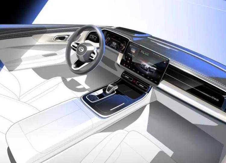 全新广汽传祺GS8内饰首曝光:科技感满满,GPMA架构首款高端SUV
