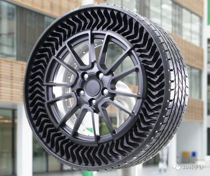米其林无气轮胎将于2024年上市,无气轮胎有哪些优点