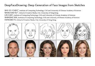 中科院研发出AI人像生成模型,可将简笔画生成逼真人脸肖像