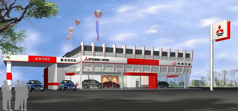 长沙汽车4S店设计 长沙汽车展厅设计找壹番汽服设计院