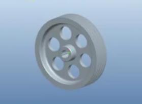 Proe基础范例之带轮的设计