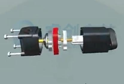 回转液压马达动画解析