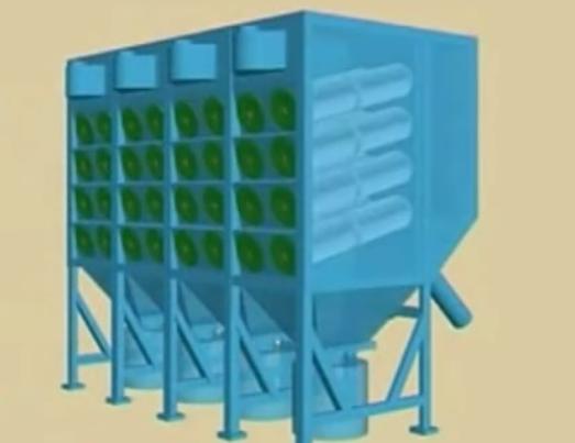 滤筒式工业吸尘设备工作原理演示视频