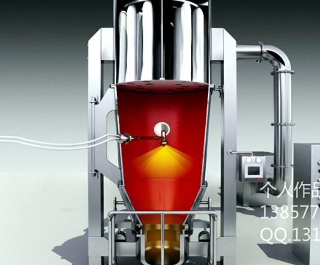 沸腾制粒干燥机工作动画