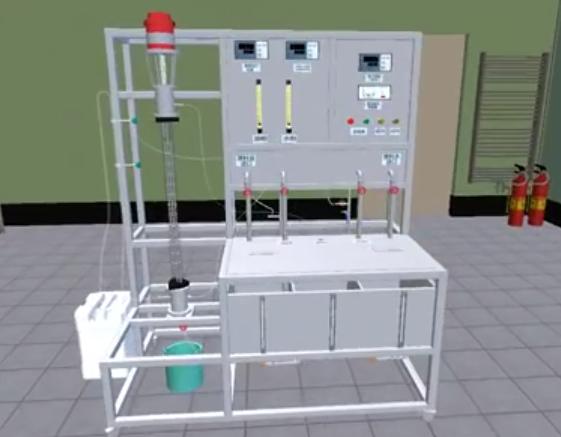 萃取塔实验--北京欧倍尔3D化工原理虚拟仿真软件