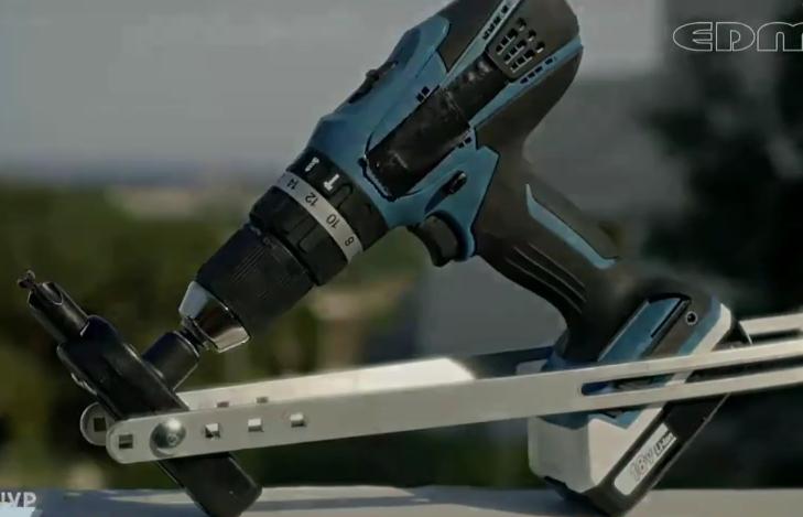 新科技! 给电钻套上这个工具, 电钻的功能性增加几十种