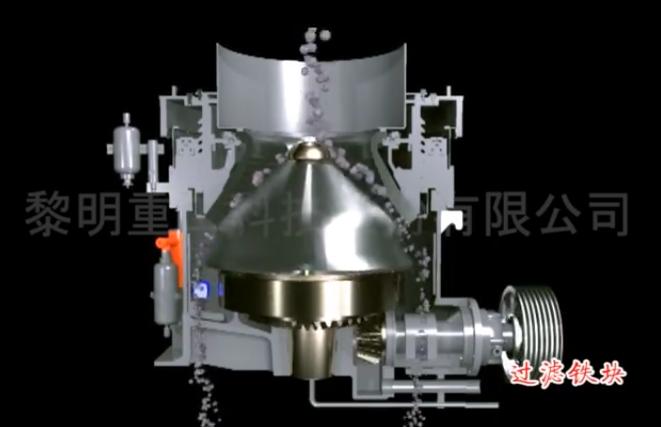 黎明重工液压多缸圆锥破三维动画