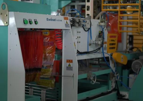 武汉益海全自动真空包装机工作视频