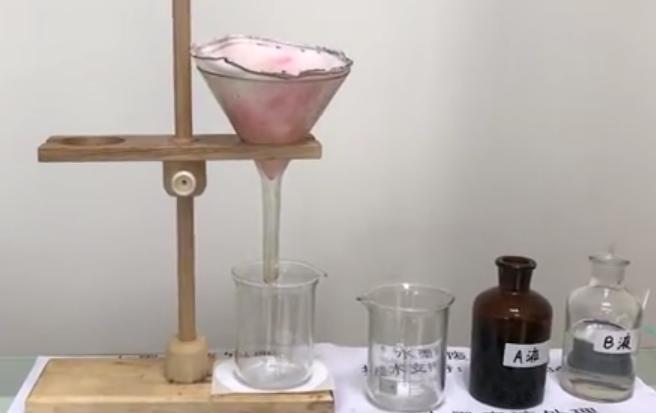 水性油墨废液处理实验