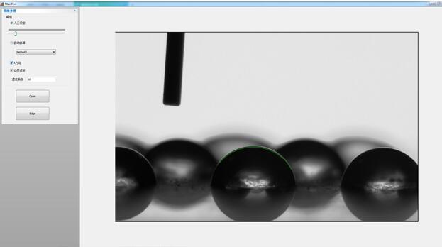 接触角测量仪如何在昏暗模糊背景下准确测量接触角值