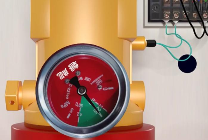 怎样调整气体灭火系统钢瓶压力表表盘方位?