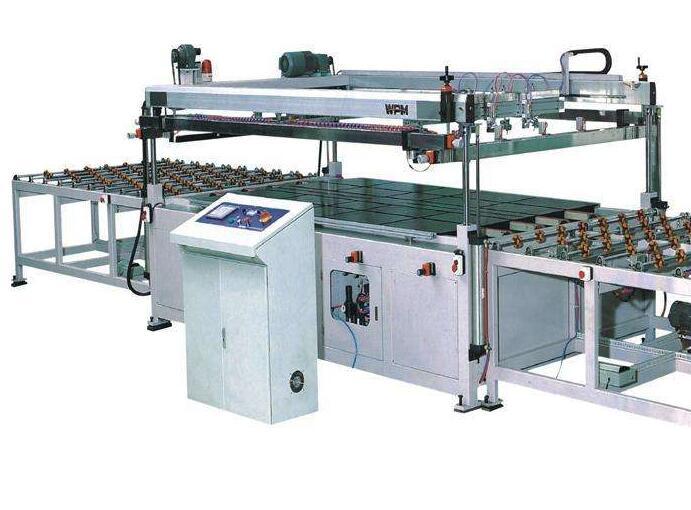 全自动玻璃丝印机生产线印刷流程